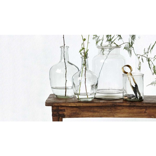 house doctor vase glass weinballon wa1007 vase deko i design deli. Black Bedroom Furniture Sets. Home Design Ideas