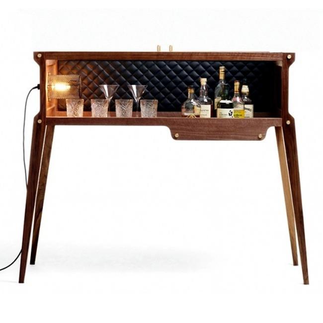 rockstar bar whisky cocktailbar walnussholz lederpolsterung i buster punch i design deli. Black Bedroom Furniture Sets. Home Design Ideas